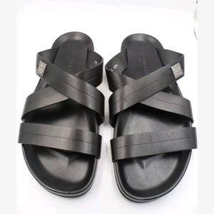 ee2396179761 Louis Vuitton Mens New Black Leather Sandals